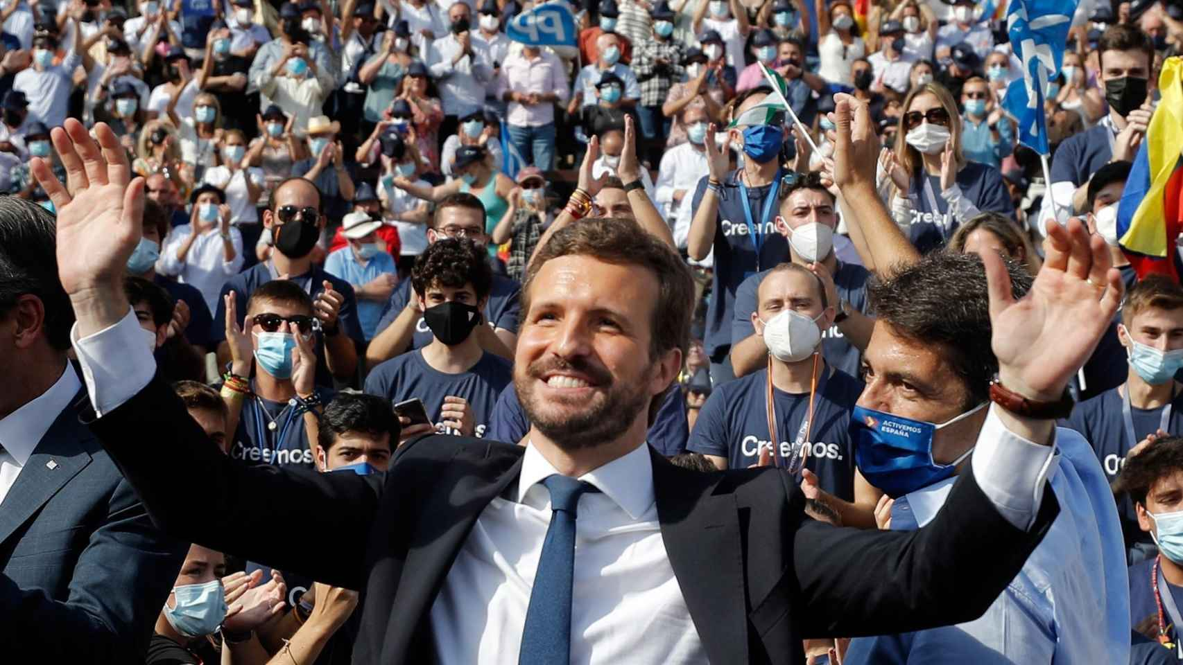 El gran mitin de Casado en la Convención del PP en Valencia, en imágenes