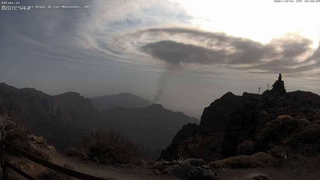 Las ondas de gravedad que aparecieron en La Palma.