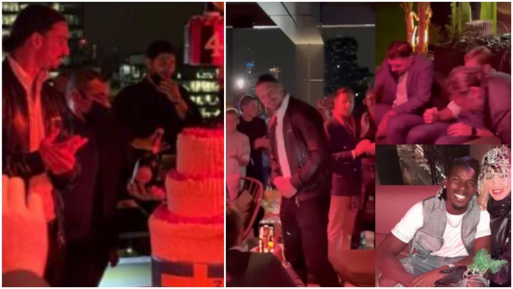 El fiestón de Ibrahimovic por su 40 cumpleaños