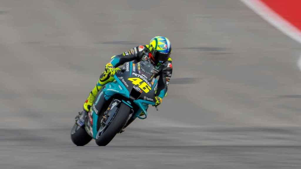 Valentino Rossi en el circuito de Austin