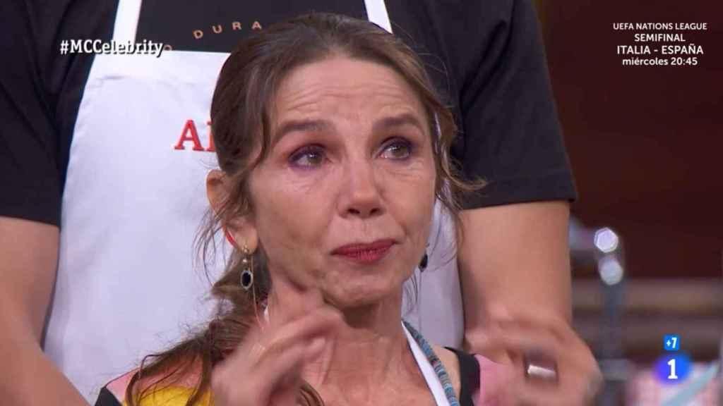 Las lágrimas de Victoria Abril en 'MasterChef Celebrity'.