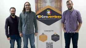 El equipo de 4D Geoservices está formado por Juan Pedro Cano Córdoba, Carlos Colomo y Alejadro Gómez.