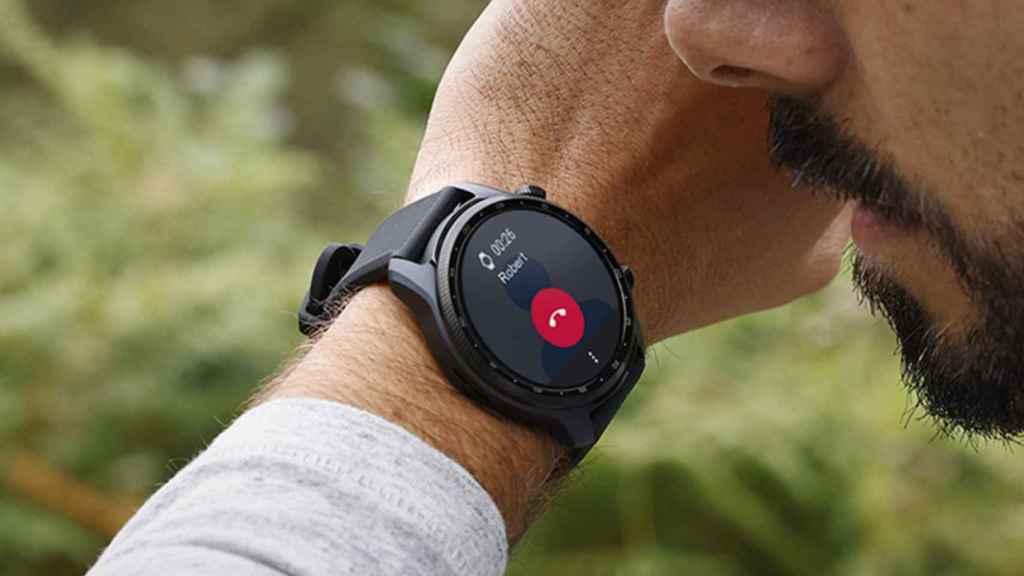 Ticwatch Pro X hablando por Android Wear