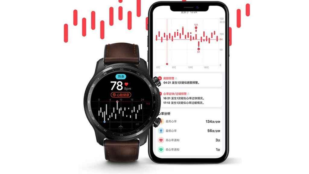 Ticwatch Pro X ritmo cardiaco