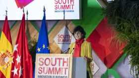 María Benjumea, impulsora de South Summit, durante su intervención en la edición de 2021.