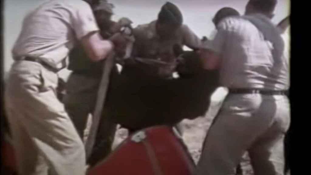 Detalle de uno de los vídeos que la Inteligencia de EEUU realizó durante las pruebas con osos.