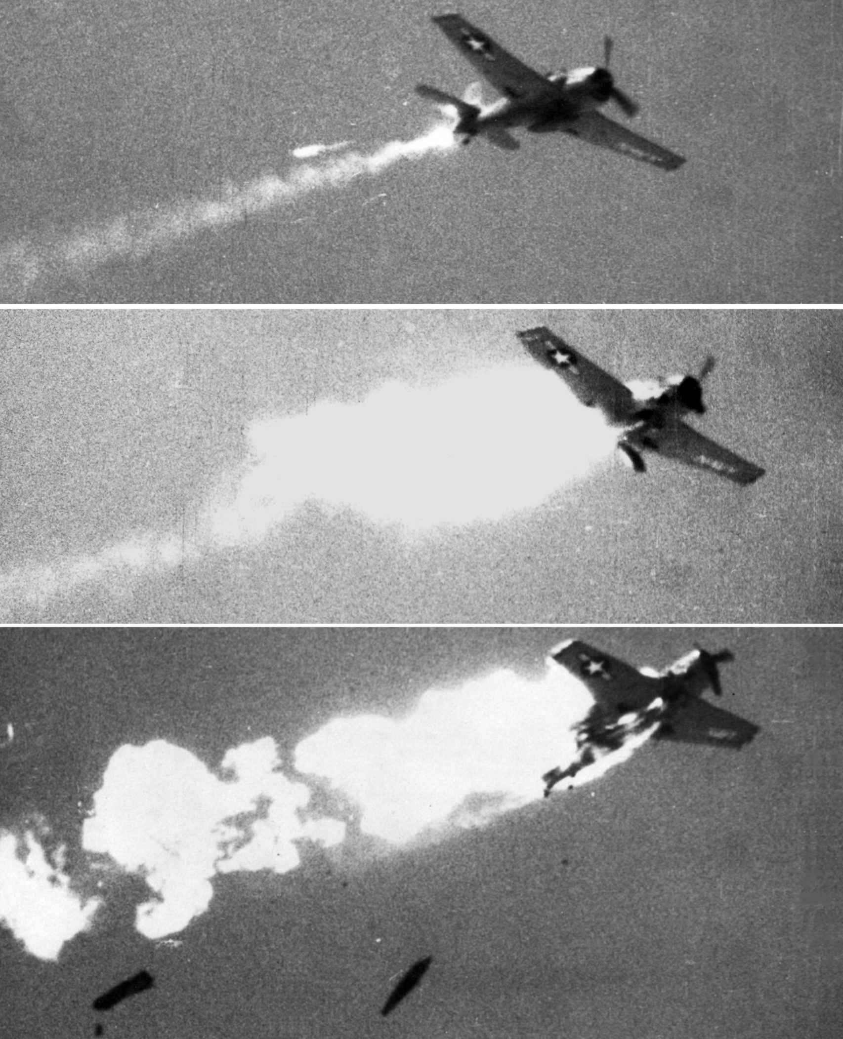 Un misil Sidewinder en acción durante unas pruebas.
