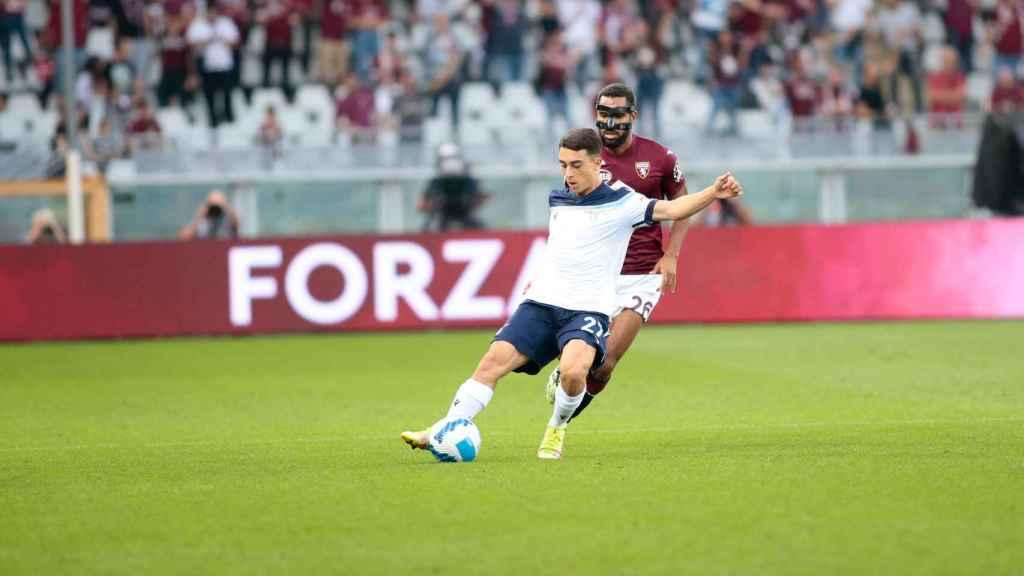 Raúl Moro, durante un partido con la Lazio