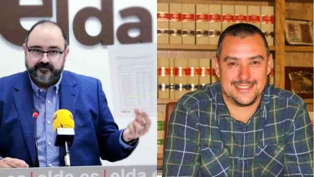 El concejal de RRHH de Elda, Jesús Sellés, y el también edil de RRHH de Aspe, Iván Escobar.