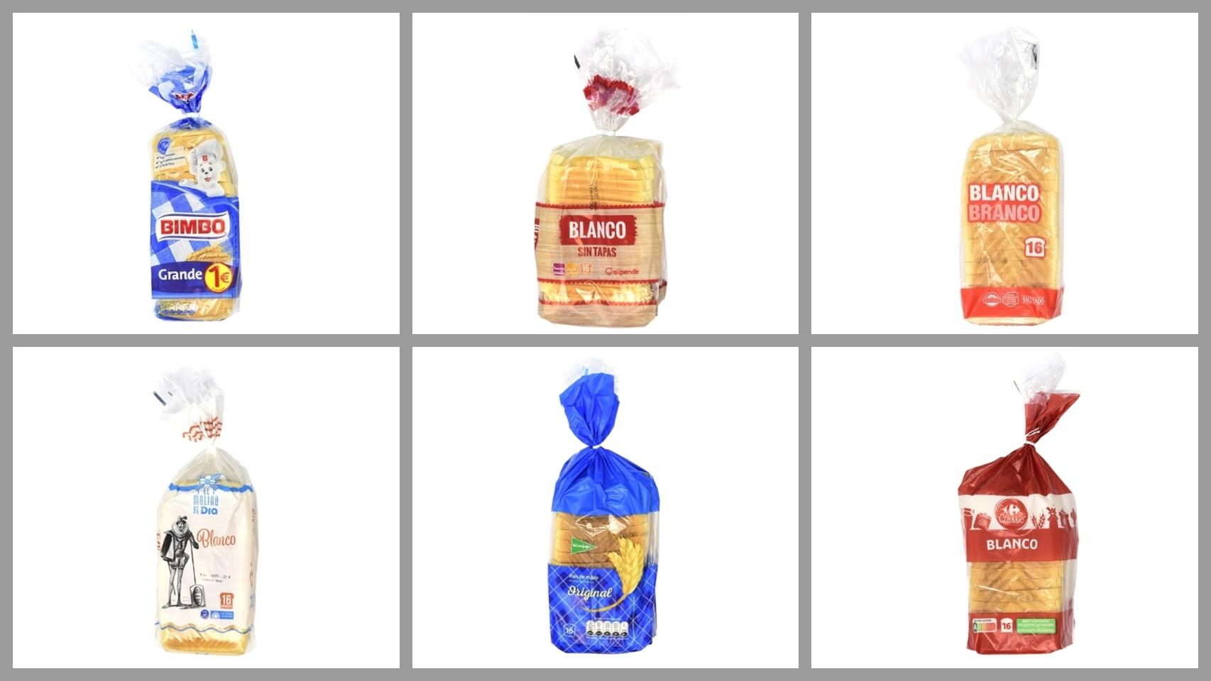 Variedades de pan blanco de los supermercados