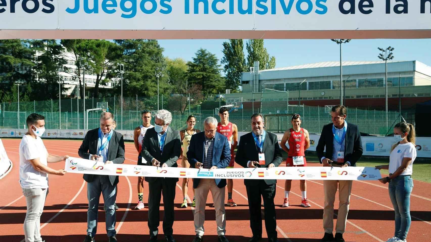 Inauguración de los Juegos Inclusivos con Alejandro Blanco (COE), Miguel Carballeda (CPE) y José Manuel Franco (CSD)