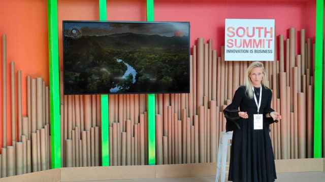 Kristina Kloberdanz, Chief Sustainability Officer de Mastercard, durante su intervención en South Summit 2021.