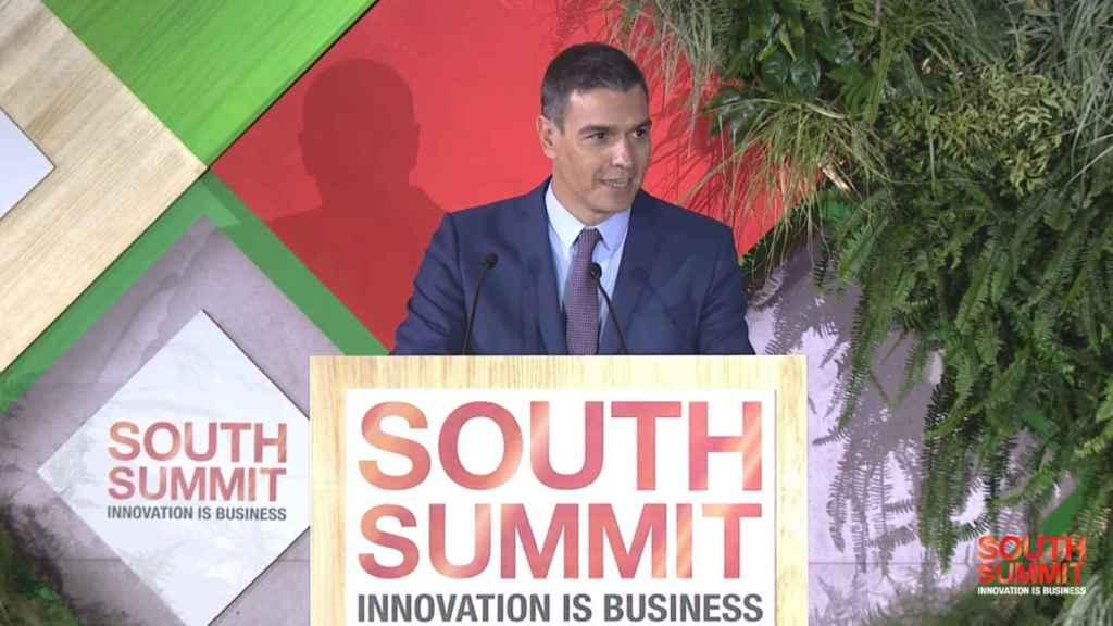 El presidente del Gobierno, Pedro Sánchez, en la clausura de South Summit