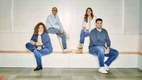 Sandra Garay (head of Brokerage Operations), Ramiro Martínez-Pardo (CEO), Miriam Ballesteros (head of Marketing) y Benito Méndez (CTO), los responsables de HeyTrade.