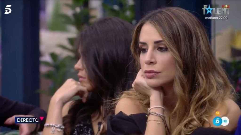 Cristina Porta y Adara en una imagen perteneciente a este jueves en 'Secret Story'.