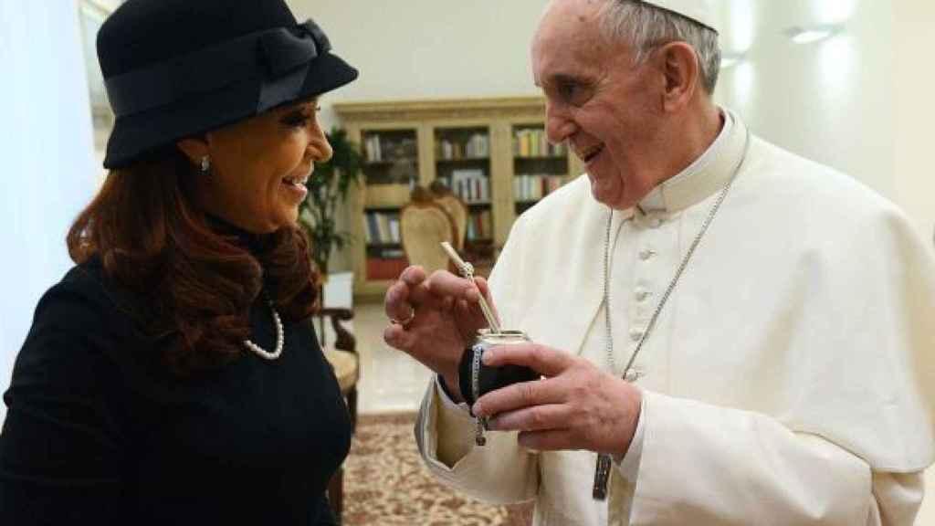 Cristina Fernández Kirchner visita al papa Francisco I.