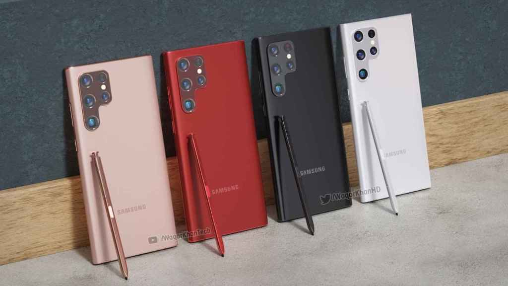Samsung Galaxy S22 Ultra: render conceptual