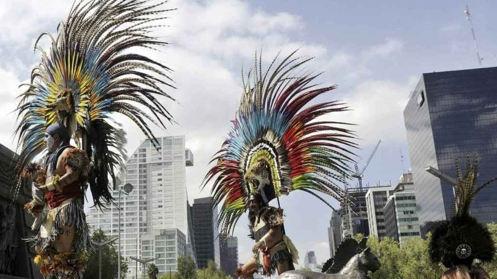 Celebración del 'Día de la Raza' en México.