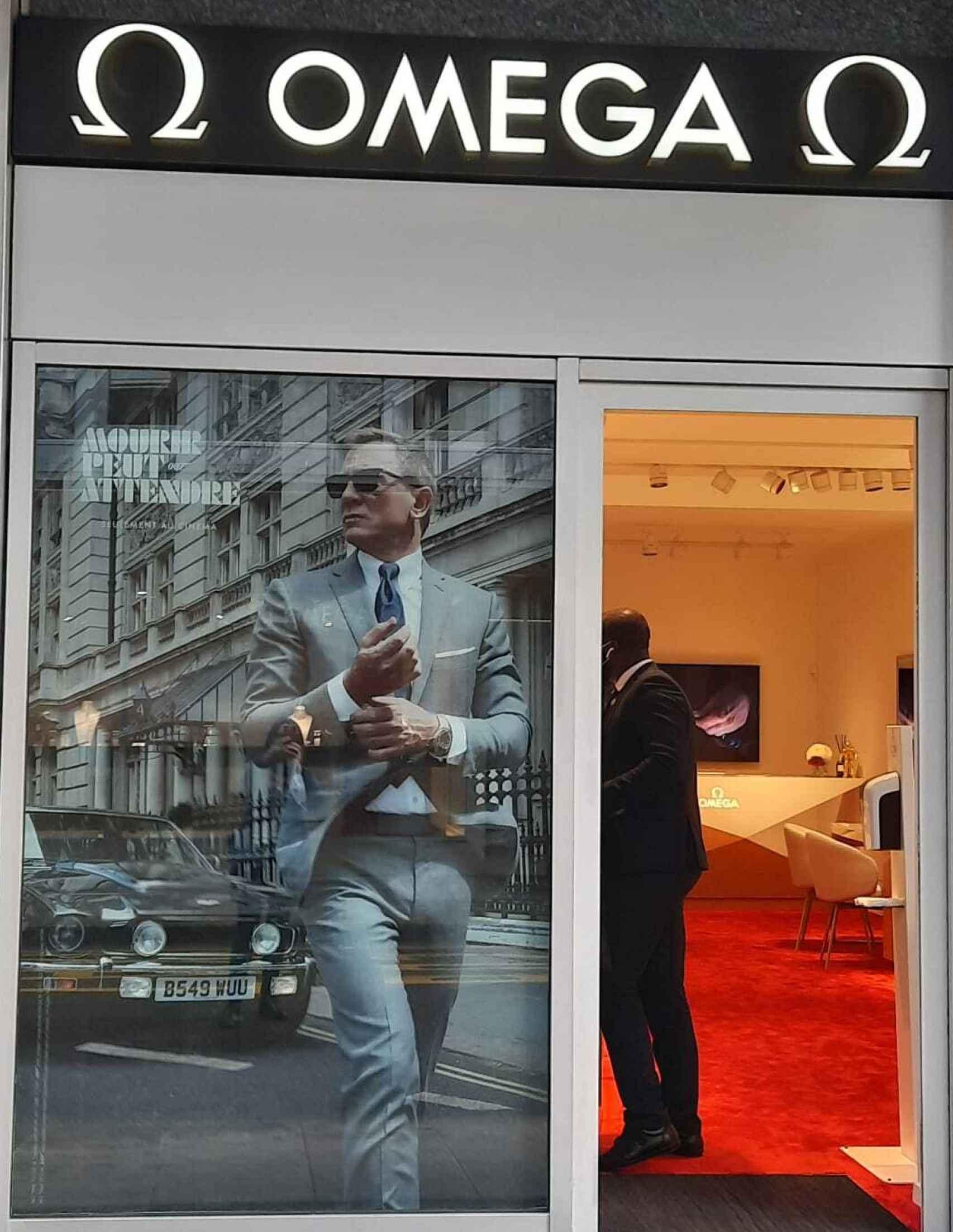 Tienda de Omega con Daniel Craig.