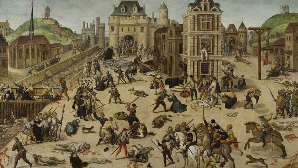 Cuadro de 'La masacre de San Bartolomé' de François Dubois.