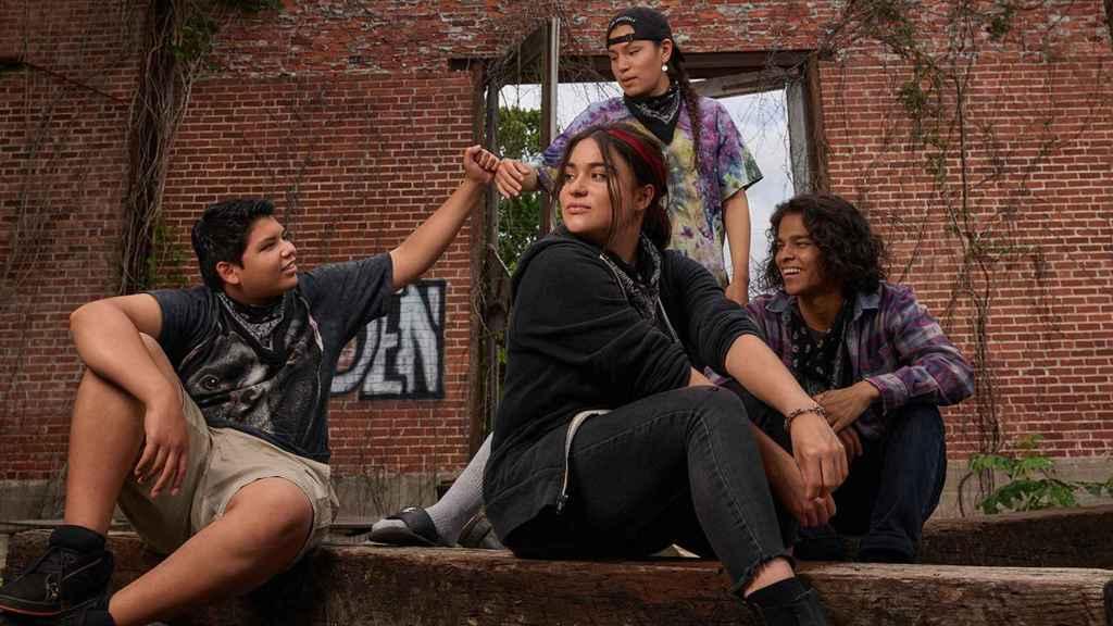 Los cuatro amigos protagonistas de 'Reservation Dogs'.