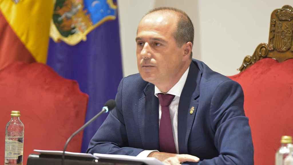 Alberto Rojo, alcalde de Guadalajara, en rueda de prensa