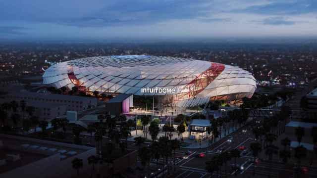 Simulación del Intuit Dome, el nuevo pabellón de Los Angeles Clippers