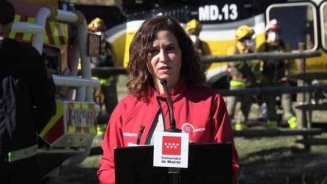 Isabel Díaz Ayuso, durante el acto de balance del Plan Infoma 2021.