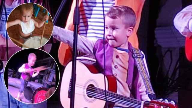 Manuel, el pequeño percusionista que ha enamorado al mundo del carnaval.