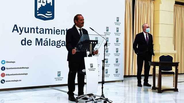 Juan Cassá y Francisco de la Torre, el día de la firma del pacto.