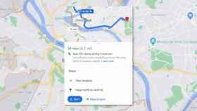 Google Maps muestra la ruta menos contaminante