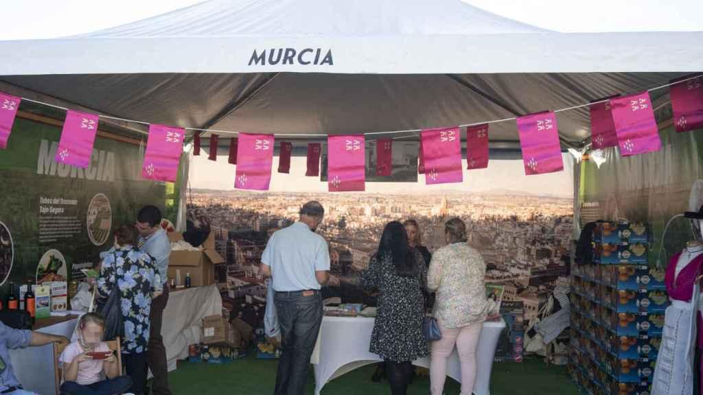 El 'stand' de Murcia en IFEMA.