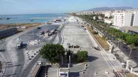 Vista de los terrenos portuarios de San Andrés, en Málaga.