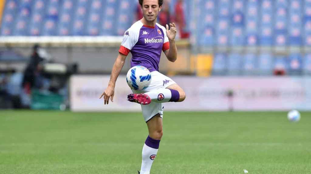 Álvaro Odriozola, con la camiseta de la Fiorentina