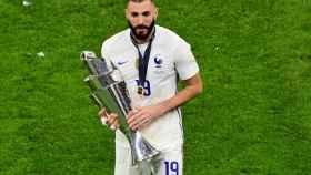 Karim Benzema, con el título de la Nations League
