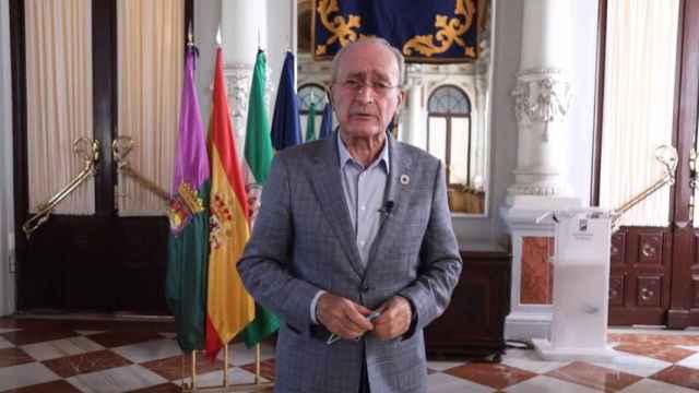 Francisco de la Torre, alcalde de Málaga, en uno de sus habituales mensajes de concienciación contra la Covid.