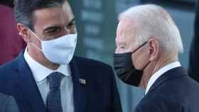 Pedro Sánchez y Joe Biden, en la última cumbre de la OTAN.