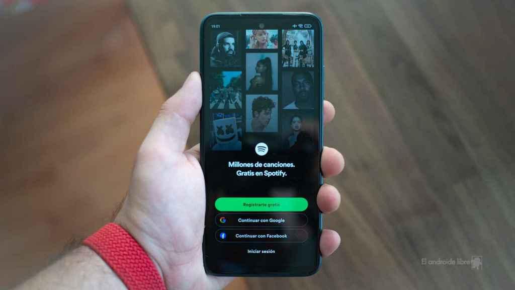 Spotify en el Redmi 10