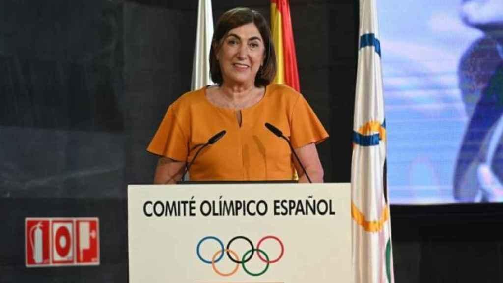Marisol Casado, durante un acto del Comité Olímpico Español