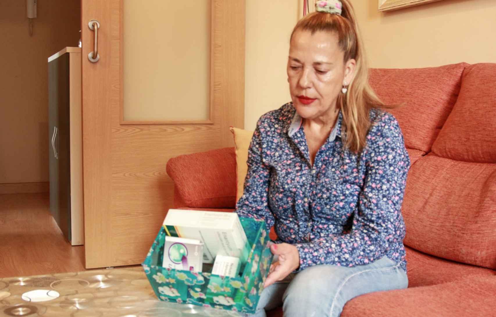 Hortensia, exadicta a los opioides, sólo guarda ya en su botiquín medicamentos que usa su hija.