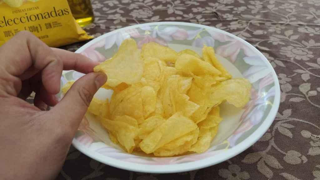Las patatas fritas de Belén Esteban en un cuenco.
