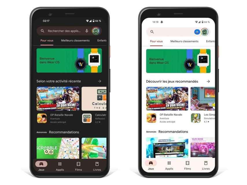 Nuevo diseño de Google Play con Material You