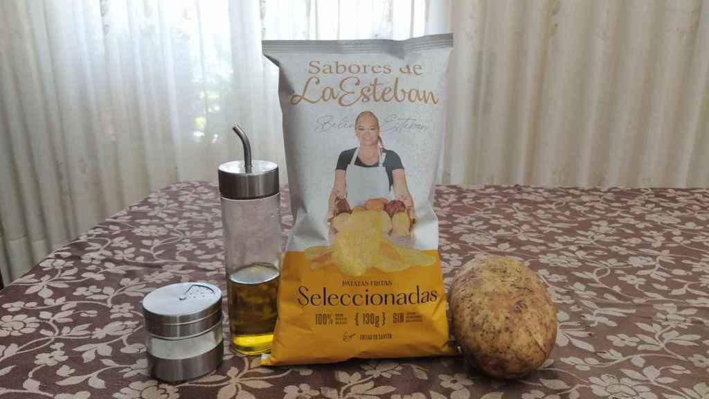 La bolsa de 130 gramos de patatas fritas de Belén Esteban.