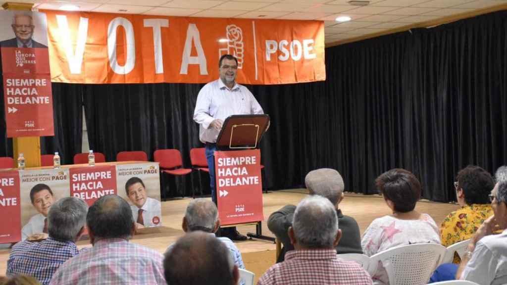 Mitin del PSOE en Villalgordo del Júcar.