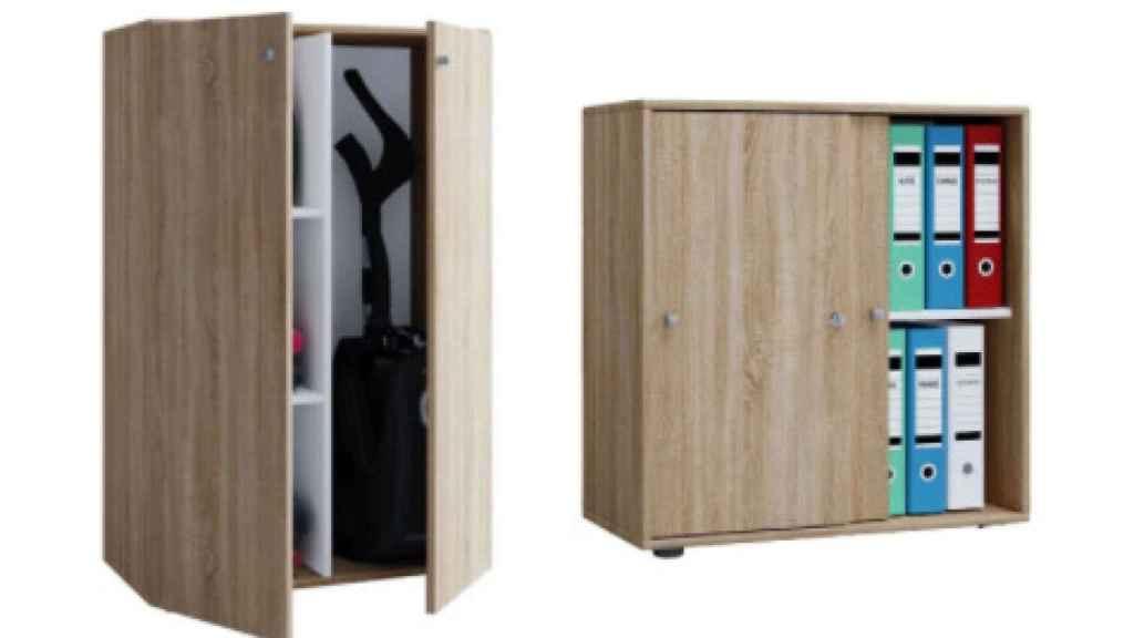 Los armarios de oficina comerciados por Lidl.