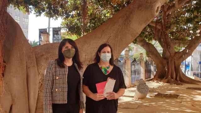 La vicepresidenta de la Diputación Julia Parra y la directora del Gil-Albert, Pilar Tébar.