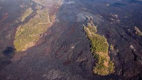Las 'kipukas' del volcán de La Palma.
