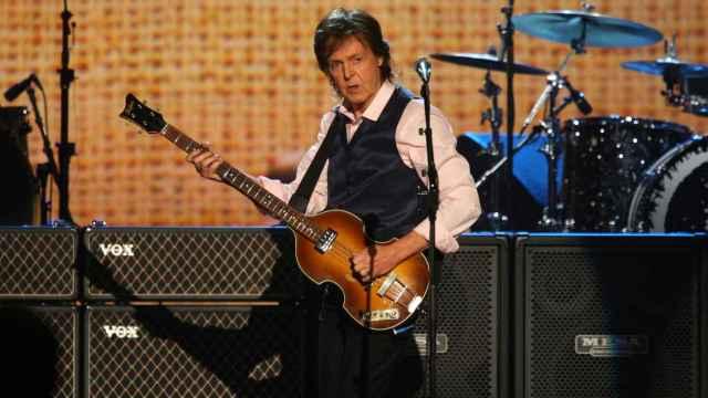 McCartney durante una actuación en 2014.