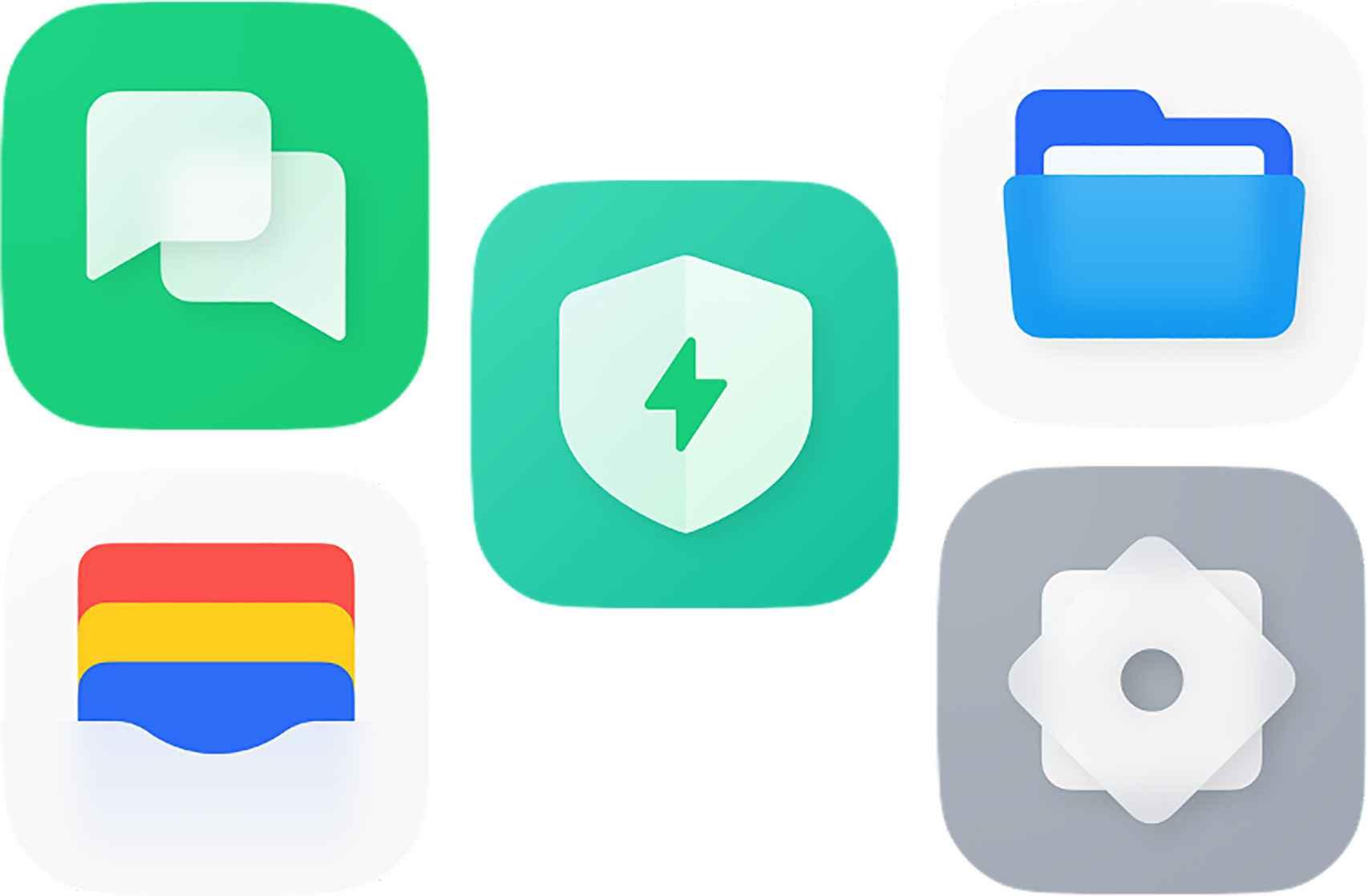 Más iconos de ColorOS 12