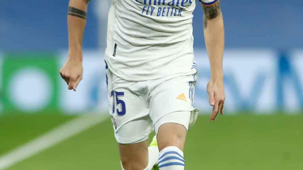 Fede Valverde, en un partido del Real Madrid en la temporada 2021/2022